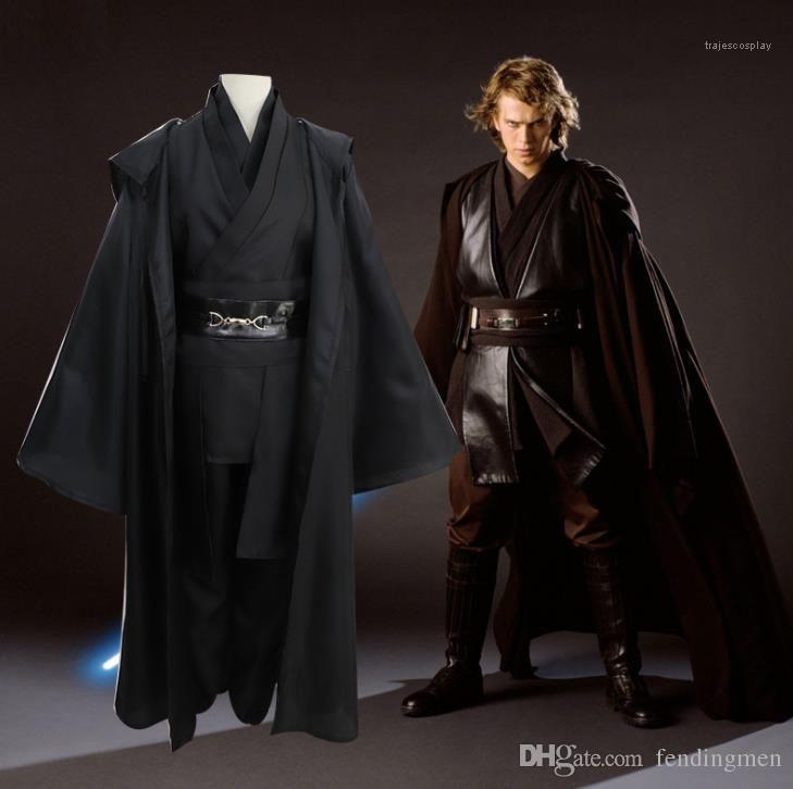 Anakin Yıldız Tema Savaş Kostümleri Suits Klasik Cadılar Bayramı Erkek Bilim kurgu ve Fantezi Kostüm Giyim Cadılar Bayramı Sith Kostüm