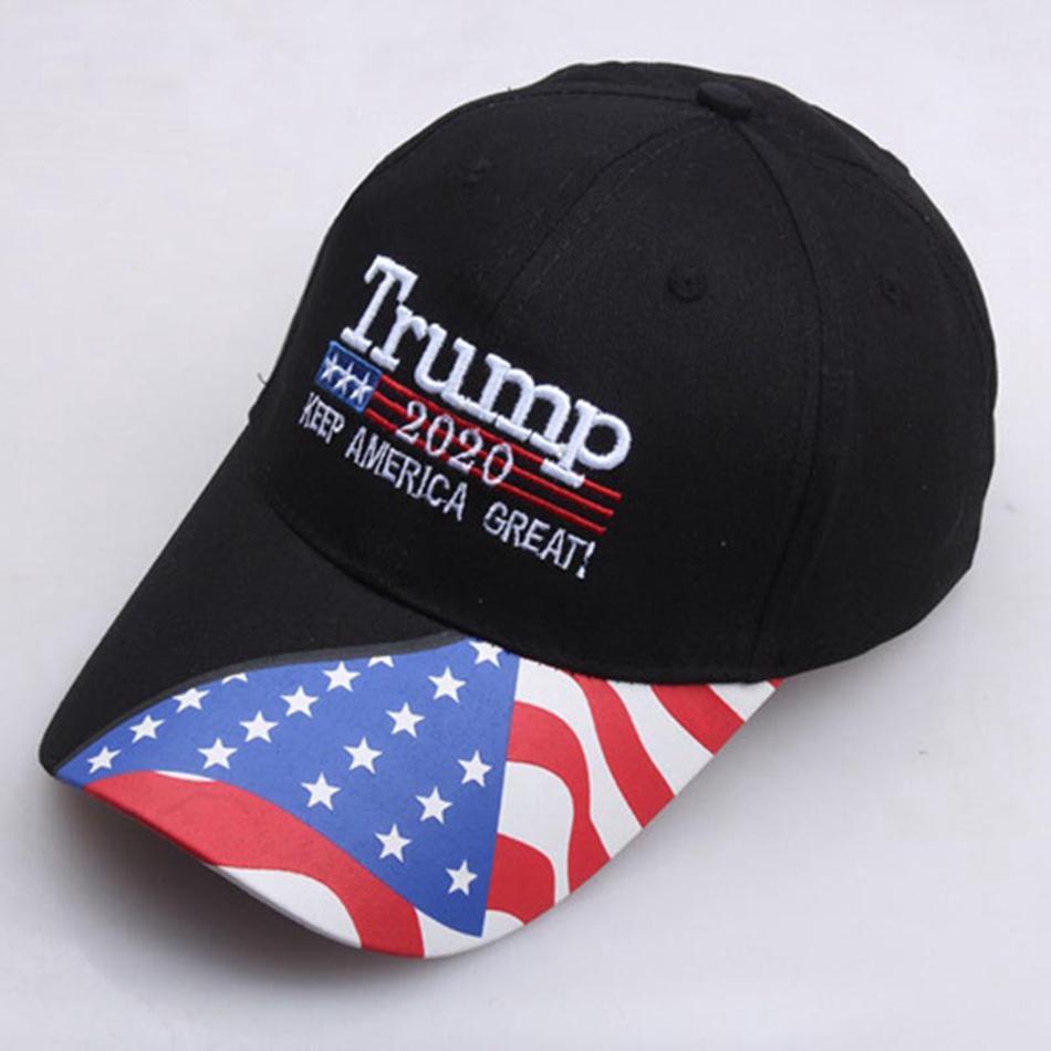 Donald Trump 2020 Pence President Trucker America Stars Print Snapback MAGA Cap