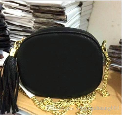 Designer di lusso del raccoglitore borsa famosa borse di alta qualità delle donne della borsa della borsa delle borse dei sacchetti di Crossbody Bag Soho Disco Tracolla Frange