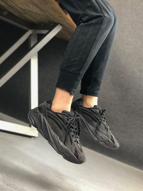 2020 zapatos con la caja Utilidad Negro 700 V2 Tefra Vanta Negro Kanye West estático Gamuza 3M reflectante corrientes de los deportes zapatillas de deporte