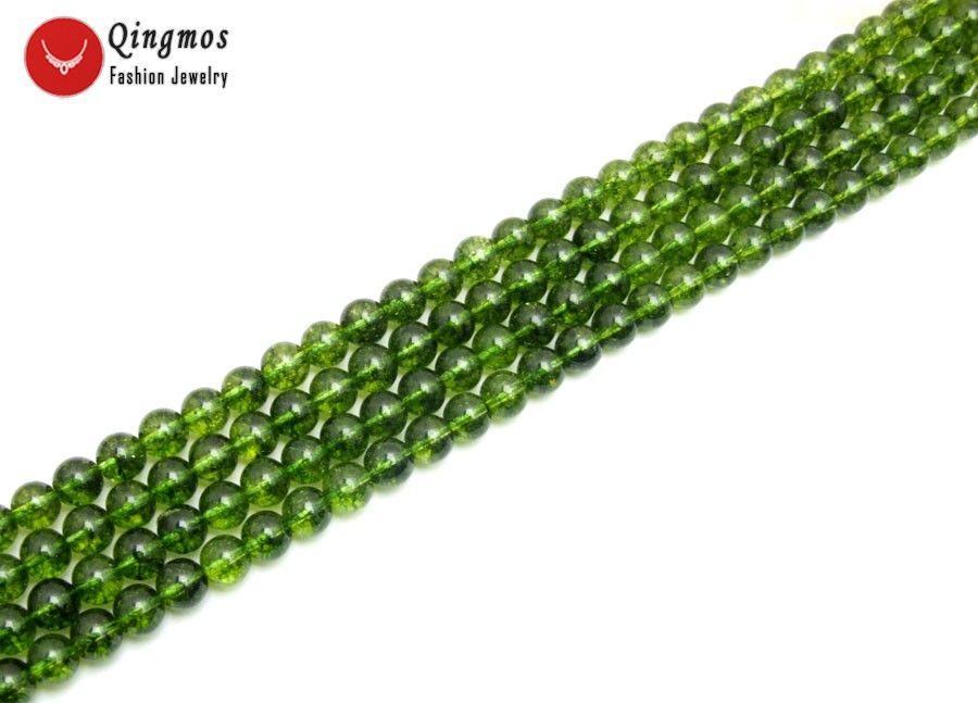 """Commercio all'ingrosso naturale 10mm rotondo verde peridoto gemma perline di pietra per gioielli rendendo fai da te collana braccialetto 15 """"los793 nave libera"""