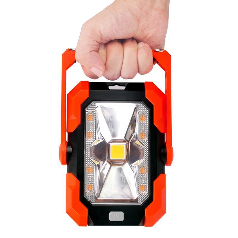 6W LED Solar Work Light Portable Camping Lantern IP65 Waterproof Magnet Emergency Lamp Powered Bank Torch