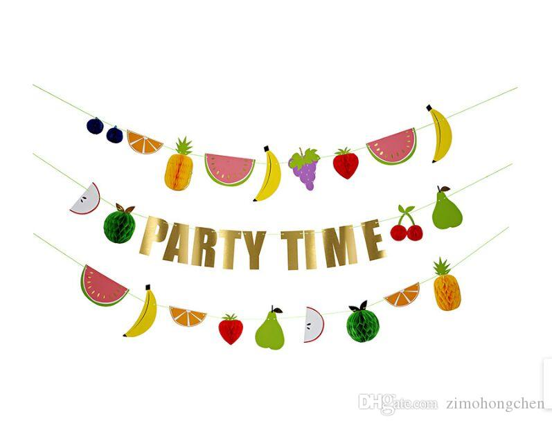 Home soft decoration children room decoration birthday party colorful letters fruit wall decoration