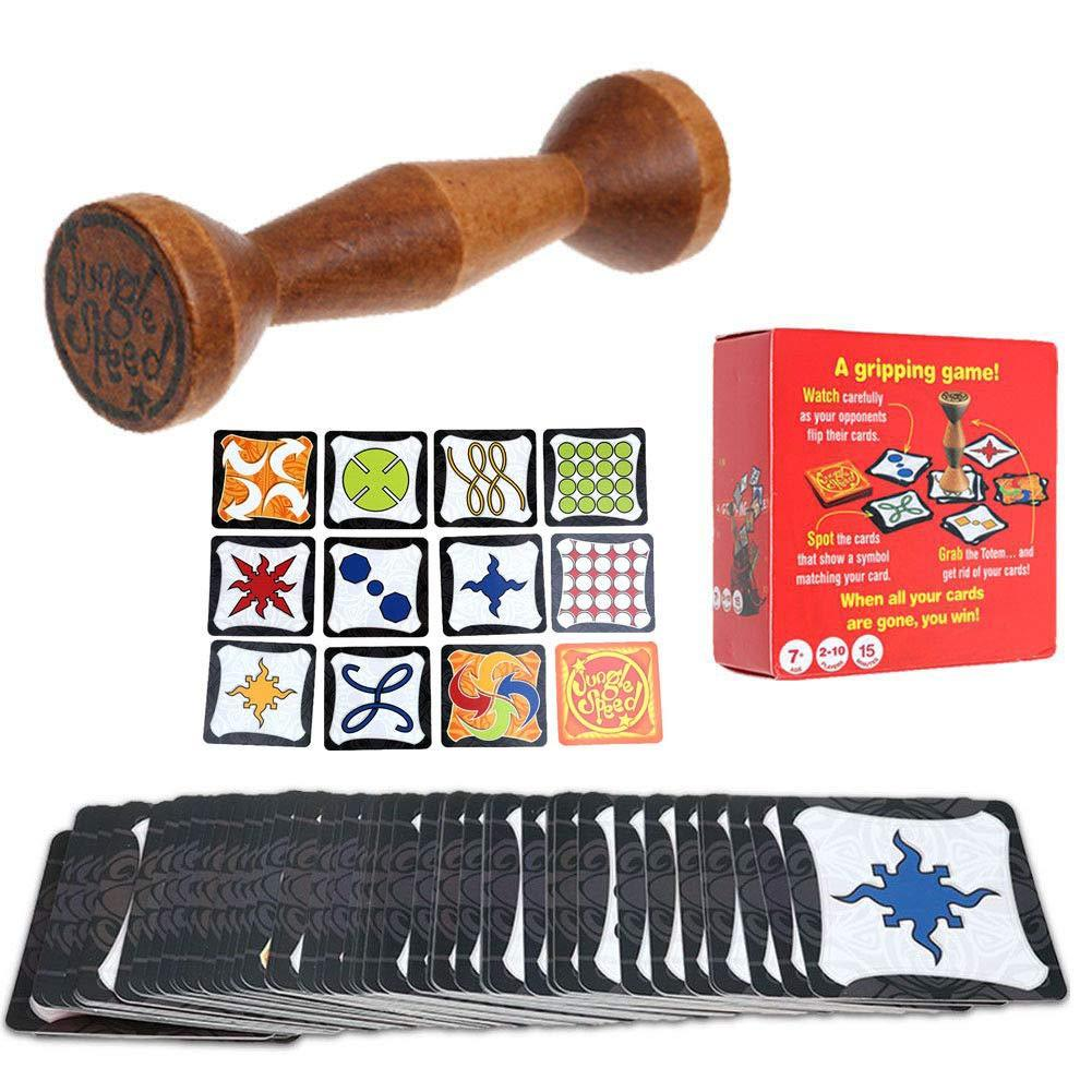 Board Game Wood Jungle Token Run Fast Pair Speed Forest Be The First To Grab The Totem! Party Board Family Game English Rules