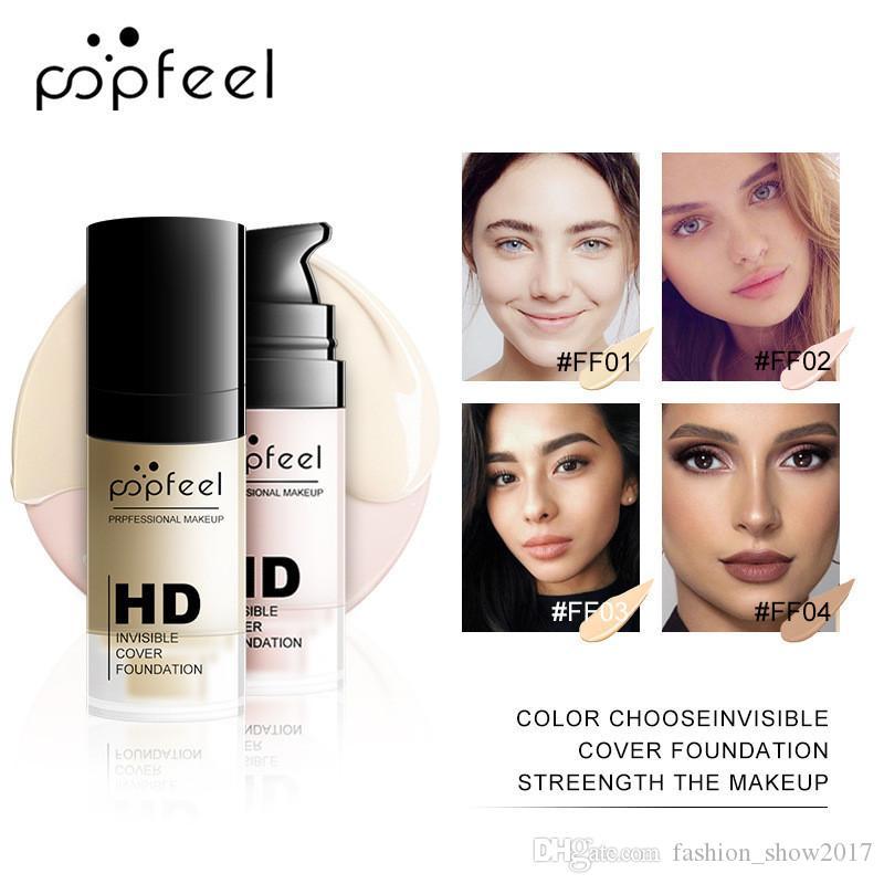 Popfeel Hydratante Visage de base Primer Maquillage Long Lasting Marque Invisible Fondation Cover HD Correcteur eau en poudre