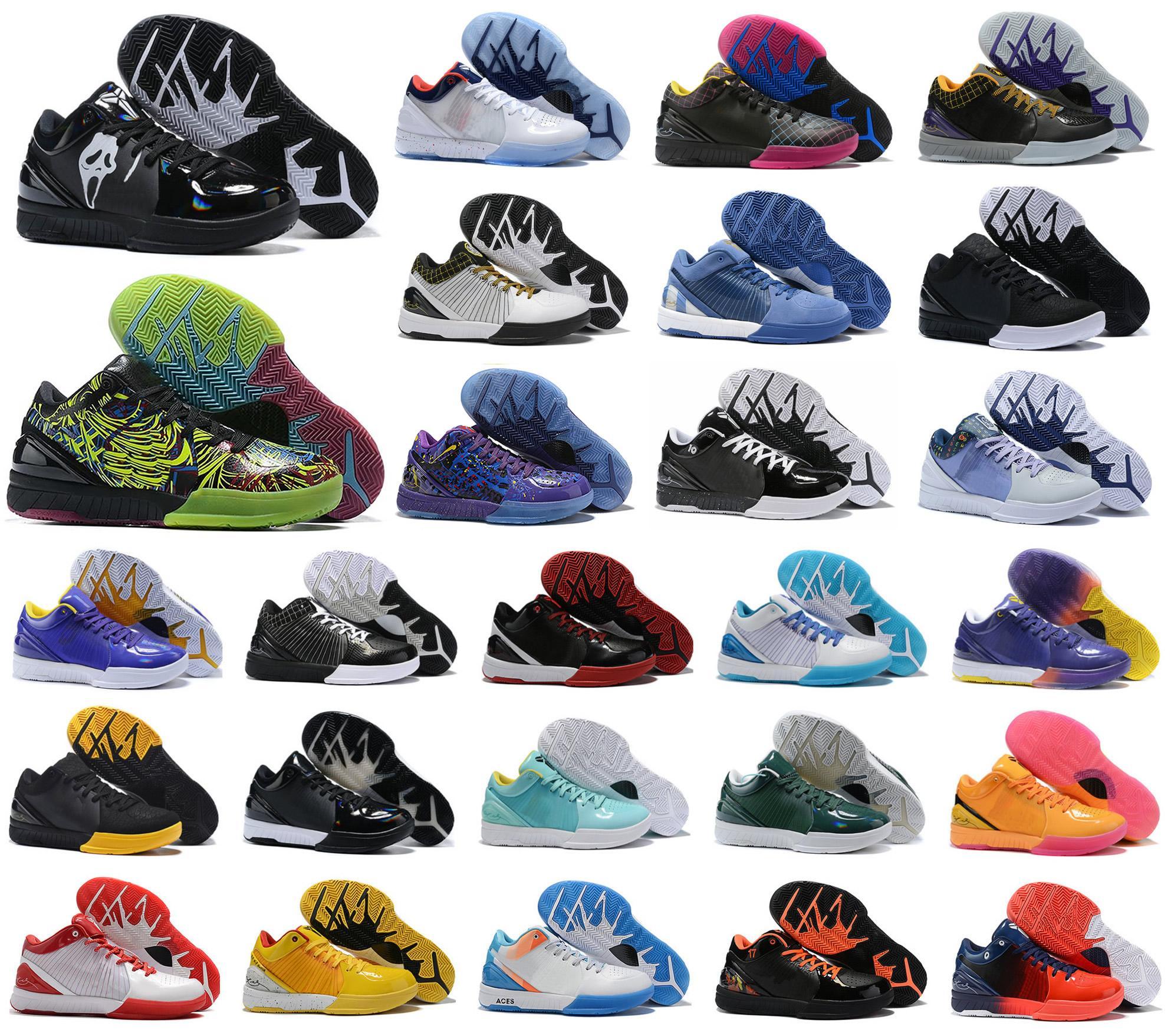 حار مامبا IV 4 K4 Protro مشروع يوم هورنتس كارب ديم ديل سول الرياضة كرة السلة أحذية الرجال ZK4 4S حذاء رياضة حجم US7-12