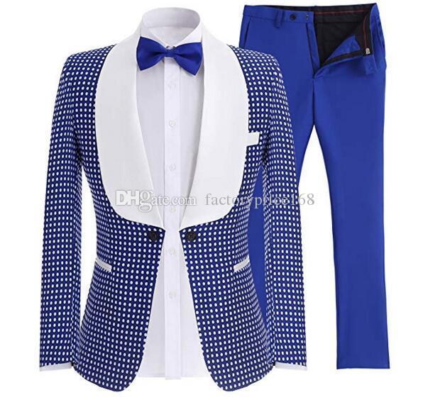 Popüler Bir Düğme Groomsmen Şal Yaka (Ceket + Pantolon + Kravat) Damat Smokin Groomsmen İyi Adam Suit Erkek Düğün Damat A220 Suits