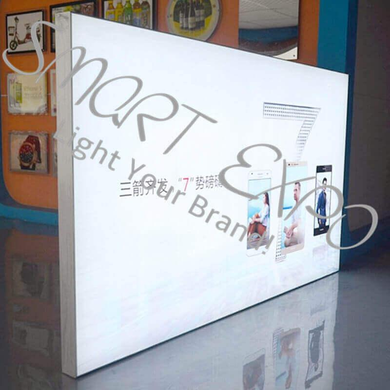 Large Format 150*300cm Wall Decoration Light Box with Backlit Light Panels UV Printing Film Graphic Protective Wooden Case