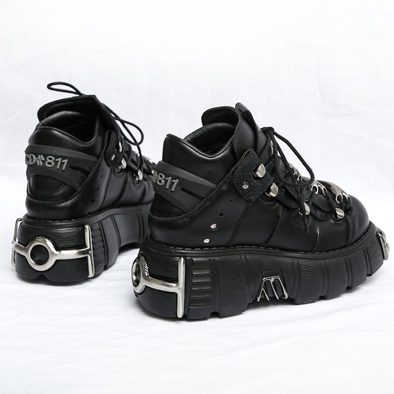 Raseup 2020 style punk femme baskets de lace-up 6cm plate-forme chaussures femme creepers féminin casual appartements plat décor ténis féminin