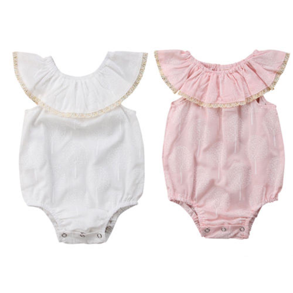 NOUVEAU Nouveau-né bébé bébé arbre fille imprimer épaule Romper Sunsuit Vêtements