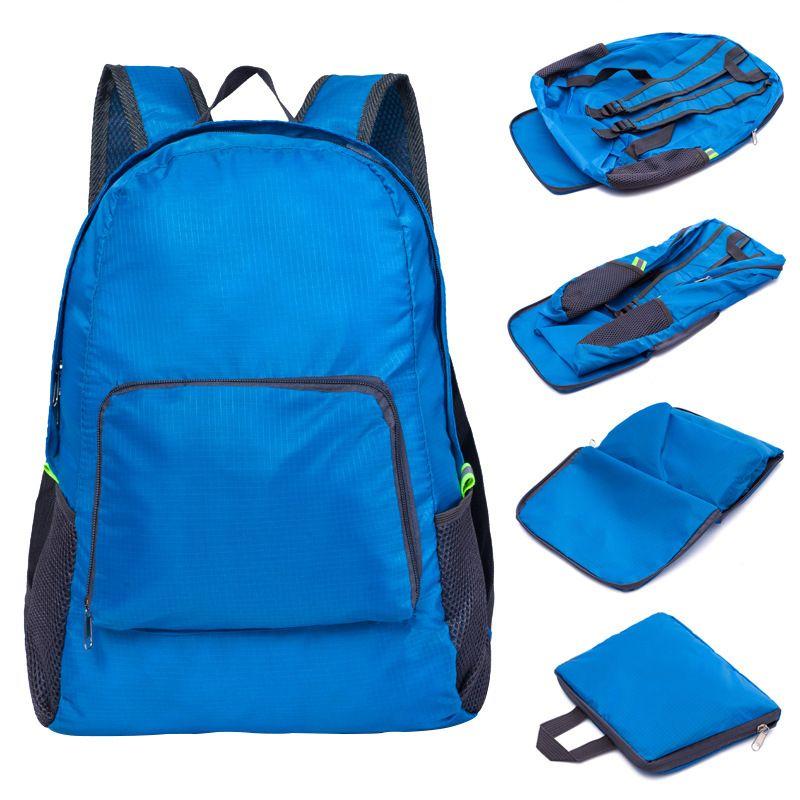 Faltbarer Reiserucksack Mode Im Freien Tragbare Sporttasche Nylon Wasserdichte Tasche Reißverschluss Einstellbare Handtasche Für Frau Männer DBC VT0494