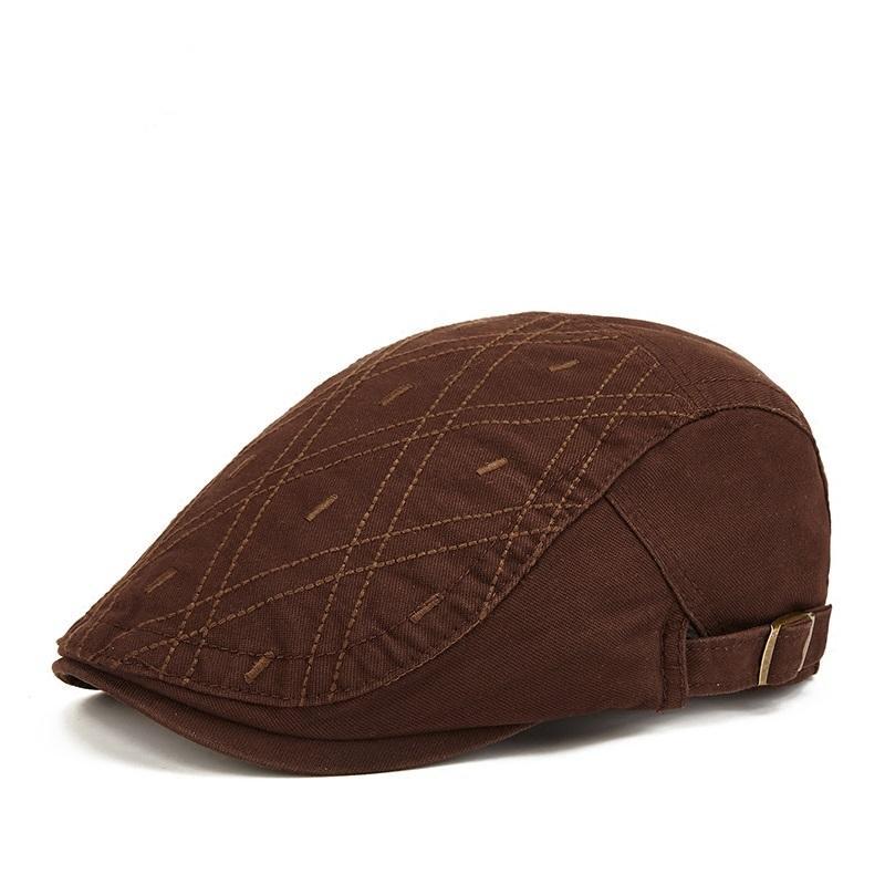 ذكر زائد الحجم اللبلاب قبعة الرأس الكبير رجل لربيع وصيف وخريف موزع الصحف قبعة أعلى درجة سيدة الصرفة القطن قبعات القبعات 54-61cm