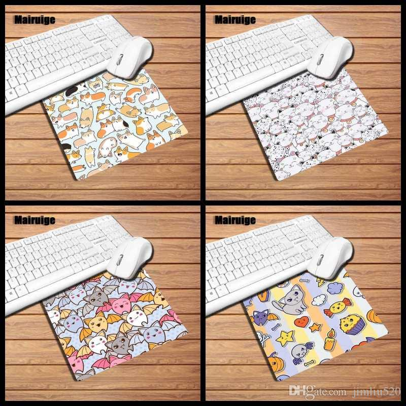 Mairuige print cute kitten home rectangular rubber mouse pad small size 22x18/29x25cm anti-slip mat game speed pad