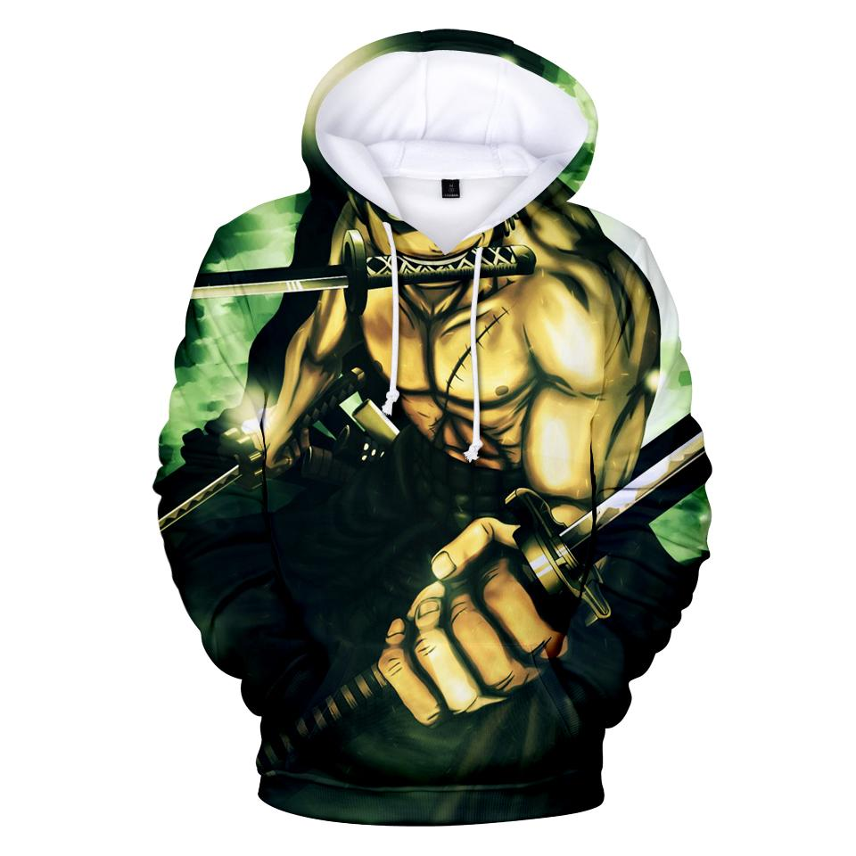 One Piece Hoodie Men High Quality Hoodies Mens The Pirate King Luffy Hooded Sweatshirt Winter Autumn One Piece Fleece Pullover