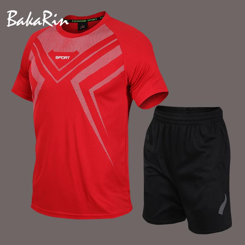 Tracksuit Men Track Suit Set Summer Sport Suit Men's Sets T Shirts+shorts Two Pieces Sets Casual Tracksuit O-Neck Sweat Suit T200628