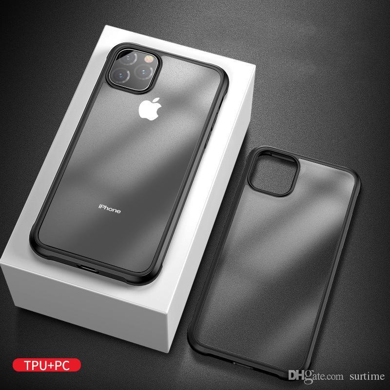 Nouveau cas de téléphone pour iphone mobile 11 coquille dure givré 11Pro d'Apple 11max deux dans un PC tpu housse de protection