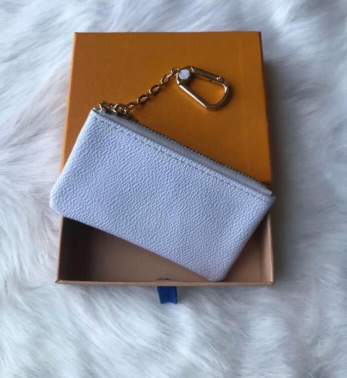 Fábrica al por mayor Billeteros clave Monederos Francia monedero de los hombres del estilo mujeres de cuero clave de la cartera de mini monedero número de serie con caja