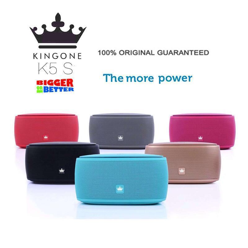 فاخر ستيريو KingOne K5S الكبير 15W سماعات بلوتوث ترقية باس المتحدث سوبر بالهاتف آليا مضخم صوت بطاقة TF حر اليدين هيئة التصنيع العسكري K5 Kingone رئيس