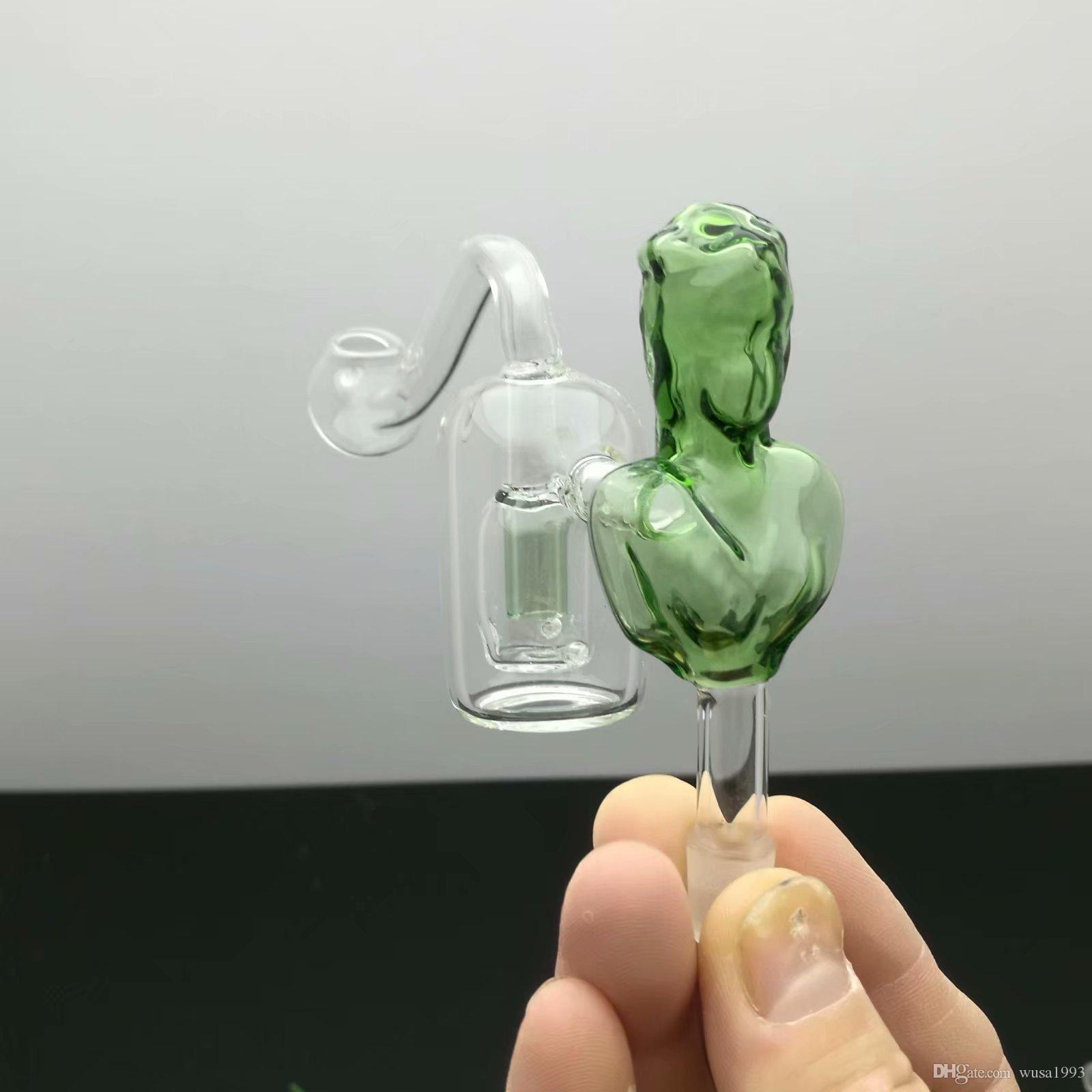 10 mm Beauté Filtre S Pot gros verre Narguilé, verre pipe à eau Raccords, Fumer, libre Shippin