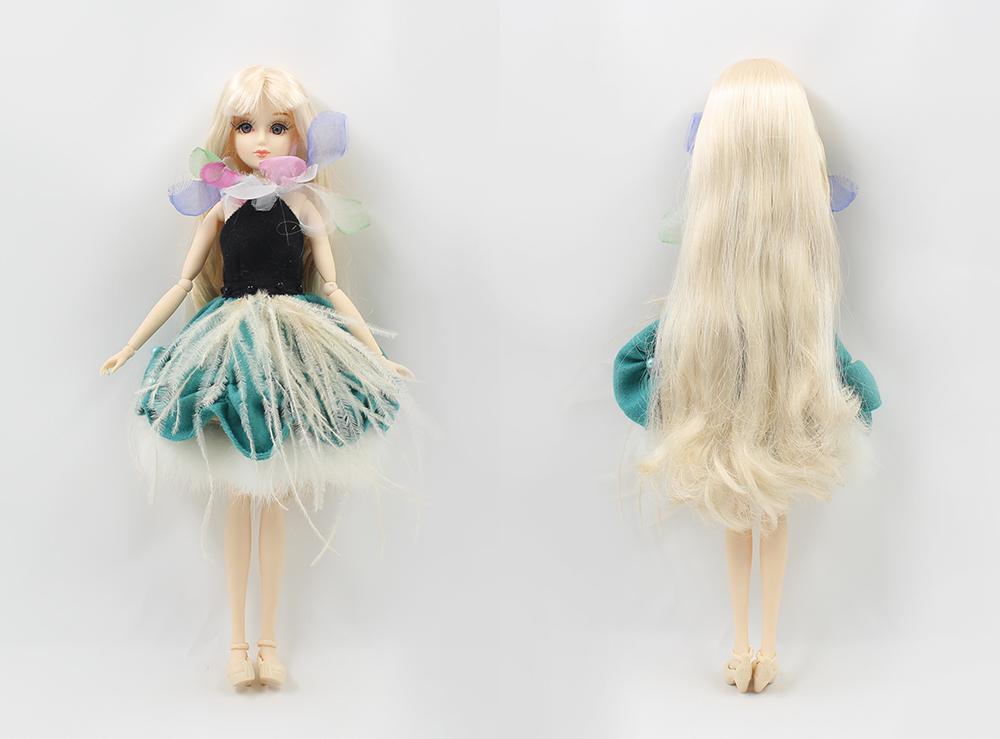 DBS Spielzeug 1/6 BJD Puppe fashoin Blume Puppe Xiaojing JOINT Körper goldenes Haar Kleid Box Schuhe stehen Spielzeug Geschenk