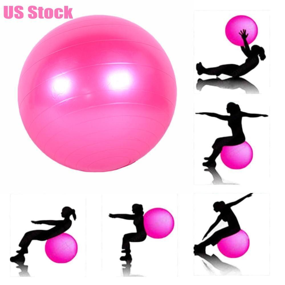 DHL Ship Fashion PVC Yoga Exercise Ball Gym Pilates Balance Exercising Fitness Anti-Burst Health Fitness Ball Proof