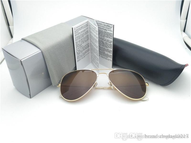 Простой модельер европейский стиль бренда очки ультрафиолетовых лучей солнцезащитные очки высокого качества Зонт солнцезащитные очки для женщин и мужчин с 3025box случае