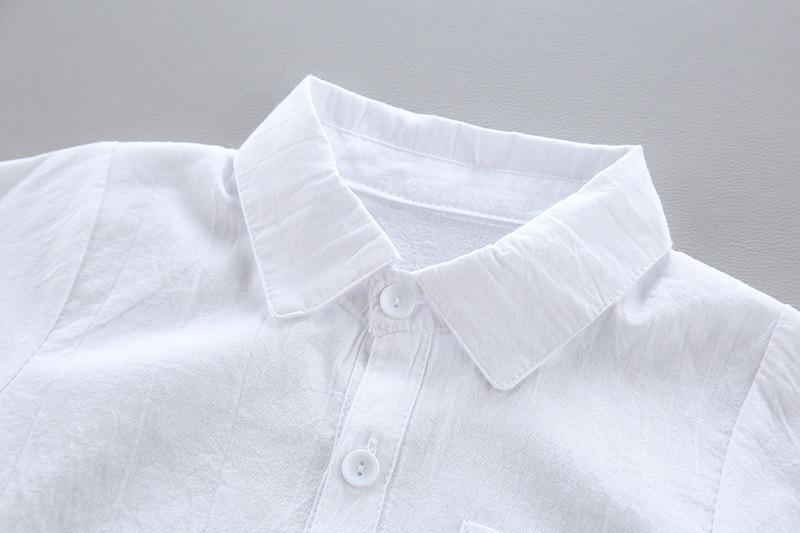 Childrens 2019 im koreanischen Stil der Jungen Kinder Shirt Autumn Bluse des Babys Top-Jungen-Hemd