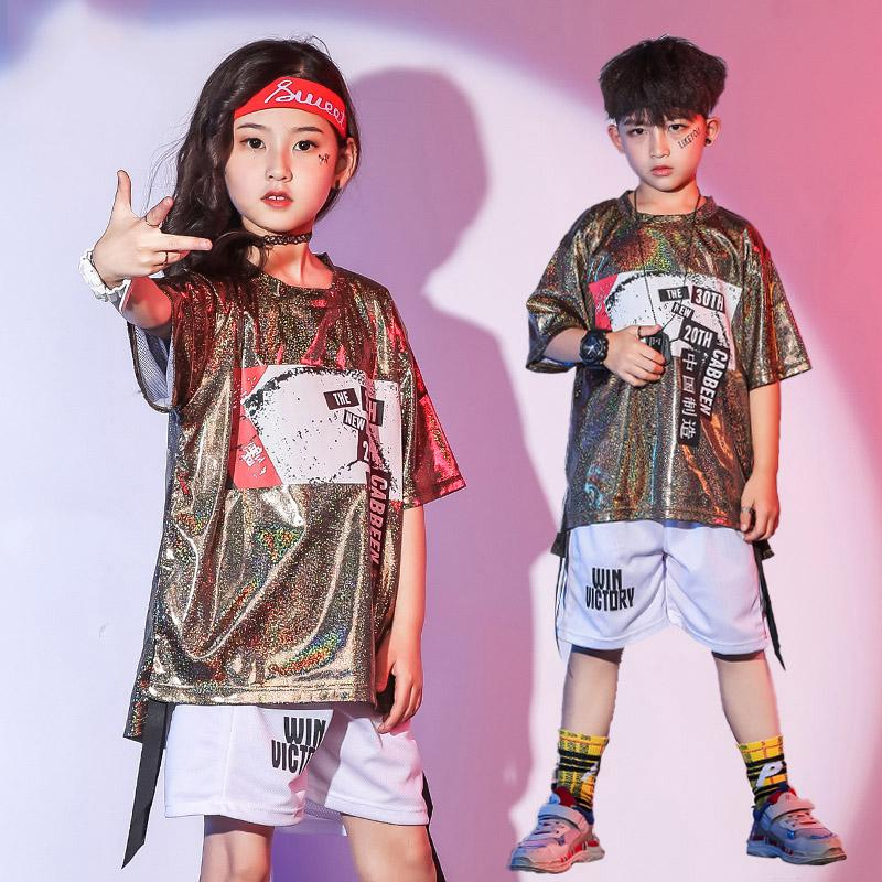 2019 Fashion Kids Hip Hop Dance Costumes Boys And Girls Jazz Dance Clothing  Performance Street Stage Costume Suit Wear BL1271 From Pinafore, $110.06