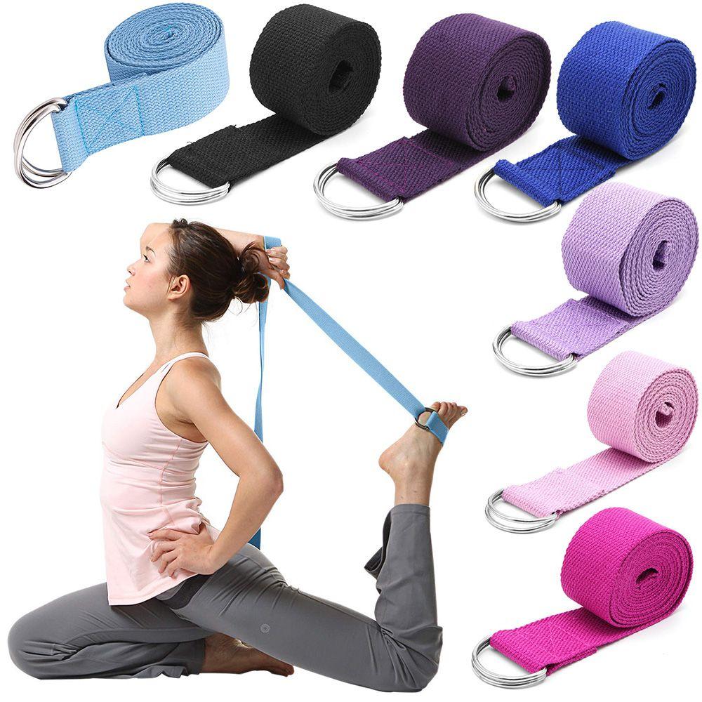 Yoga Stretch Strap D-Ring Belt Fitness Exercise Rope Waist Leg Resistance Belt