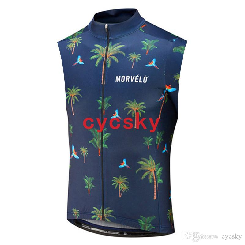morvelo 2019 Summer Cycling Vest 100% Polyester Mountain Bicycle Cycling Clothing Comfortable MTB Bike Sleeveless Cycling Jersey