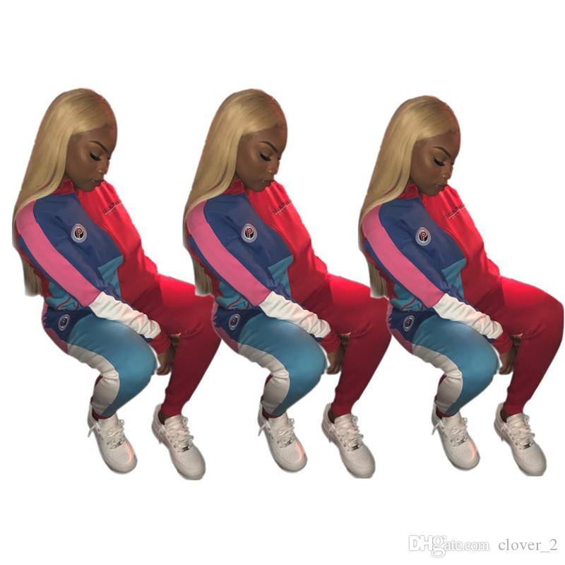 Frauen Jacke Trainingsanzug Hoodie zweiteilige Set Joggen Sport Anzug Sweatshirt Strumpfhose Sport Anzug lässig Frauen Tops Hosenanzug klw2022