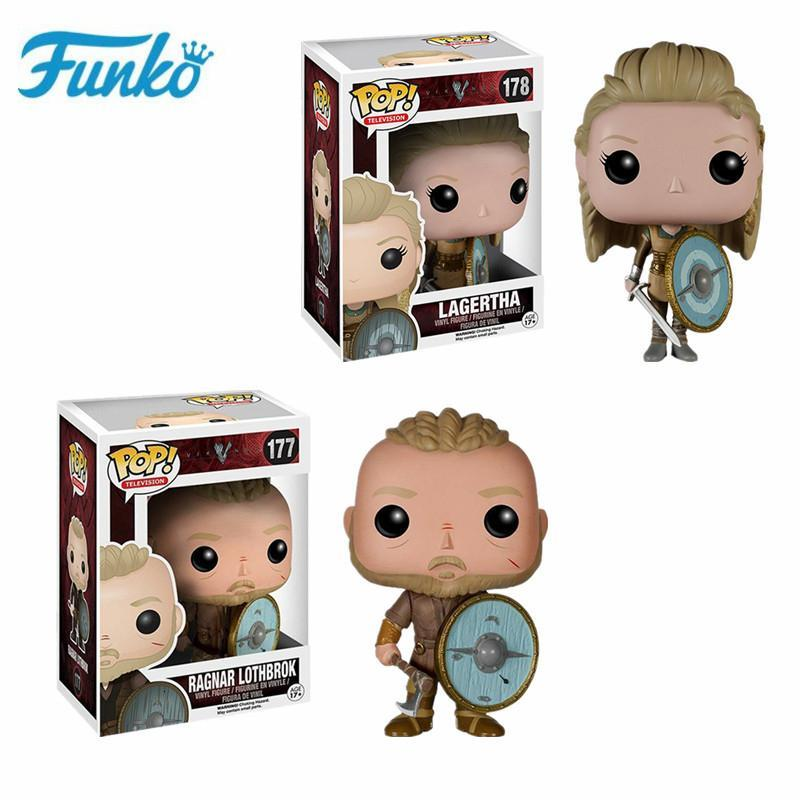 Punko Pop Vikings LAGERTHA Vinyl Action Figure Collection Toys Kid Boxed Gift