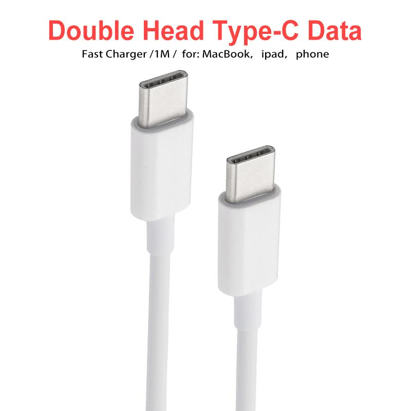 USB C to USB C Type C Cable Male to male 5A PD Fast Charging Data Charger Cable for MacBook for Samsung Google
