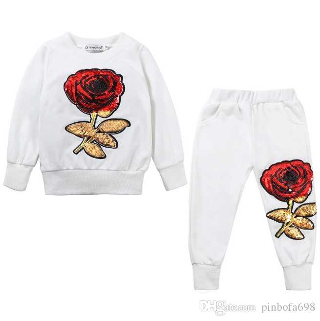 2-7 yaş çocuk takım elbise çocuk kukuletalı uzun kollu pantolon pamuk elbise erkek ve kız bahar ve sonbahar 2 takım