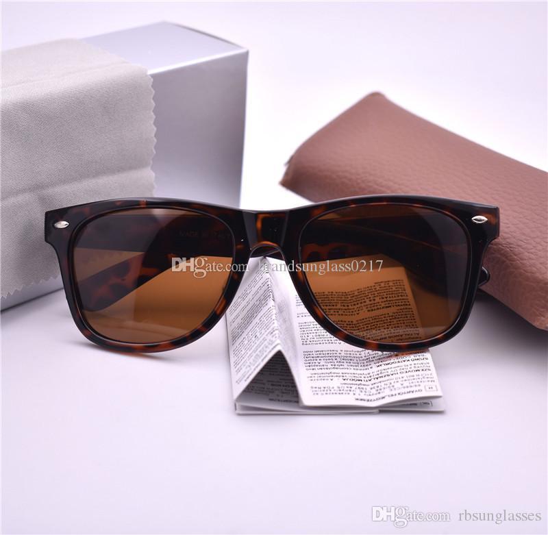 Высокое качество бренда модельера очки женщин Мужчины 54мм поляризованные Открытый Спорт Урожай солнцезащитные очки ретро очки с коробкой и корпусом