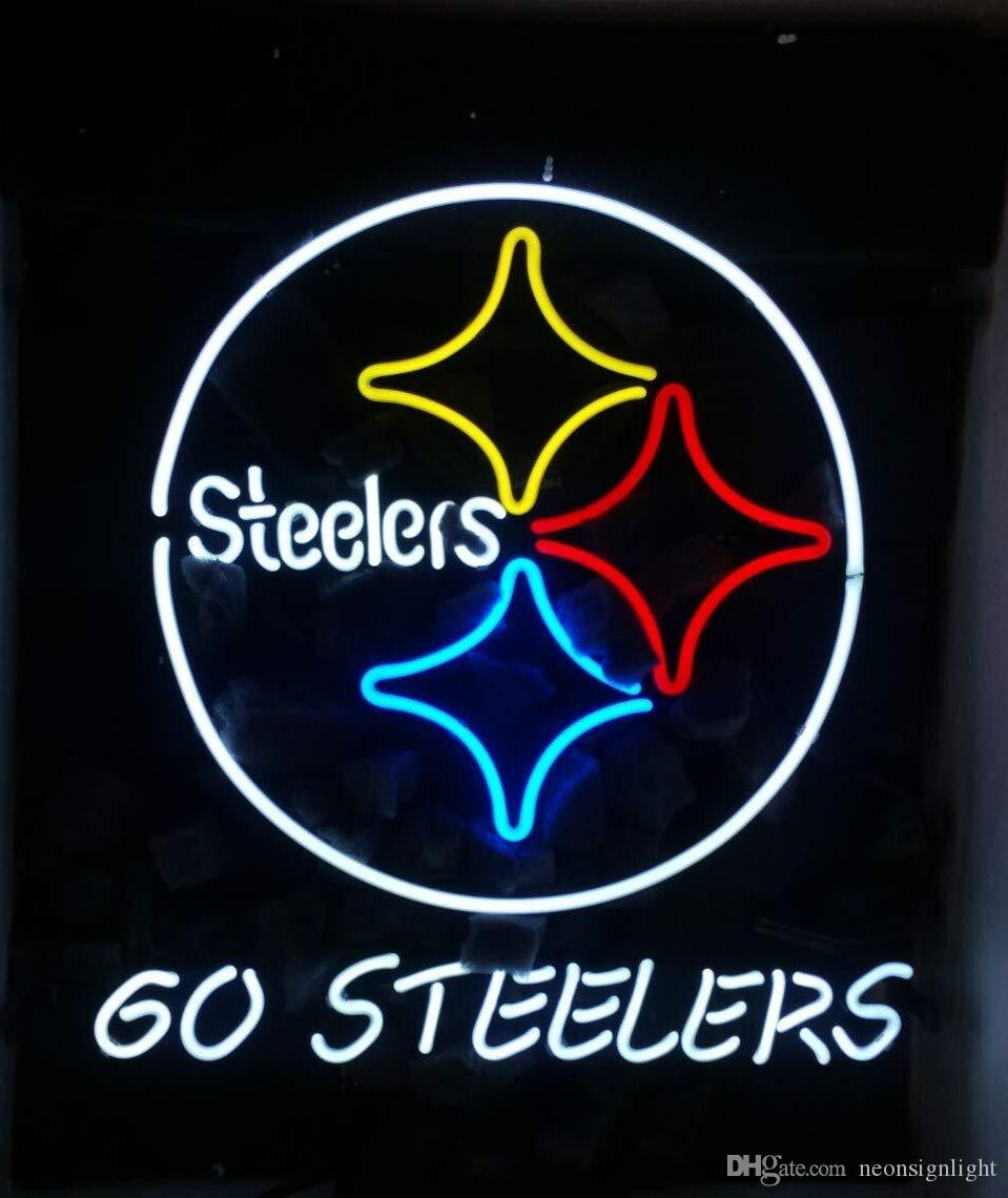 2020 Custom Made Go Steelers Neon Sign Light Real Glass