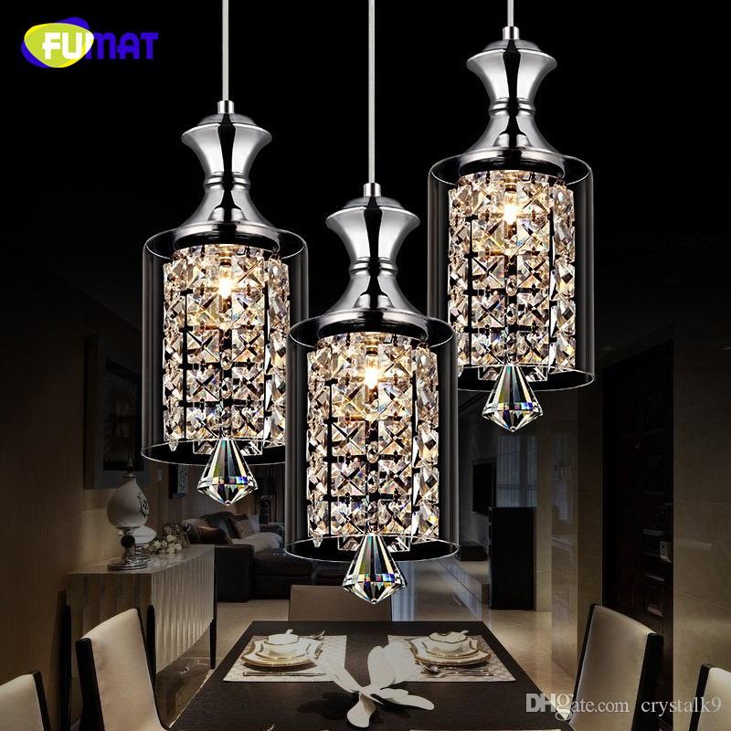 Crystal FUMAT LED lámpara colgante comedor bar Personalidad habitación pantalla de cristal modernos y creativos Lustre cristal K9 luces pendientes