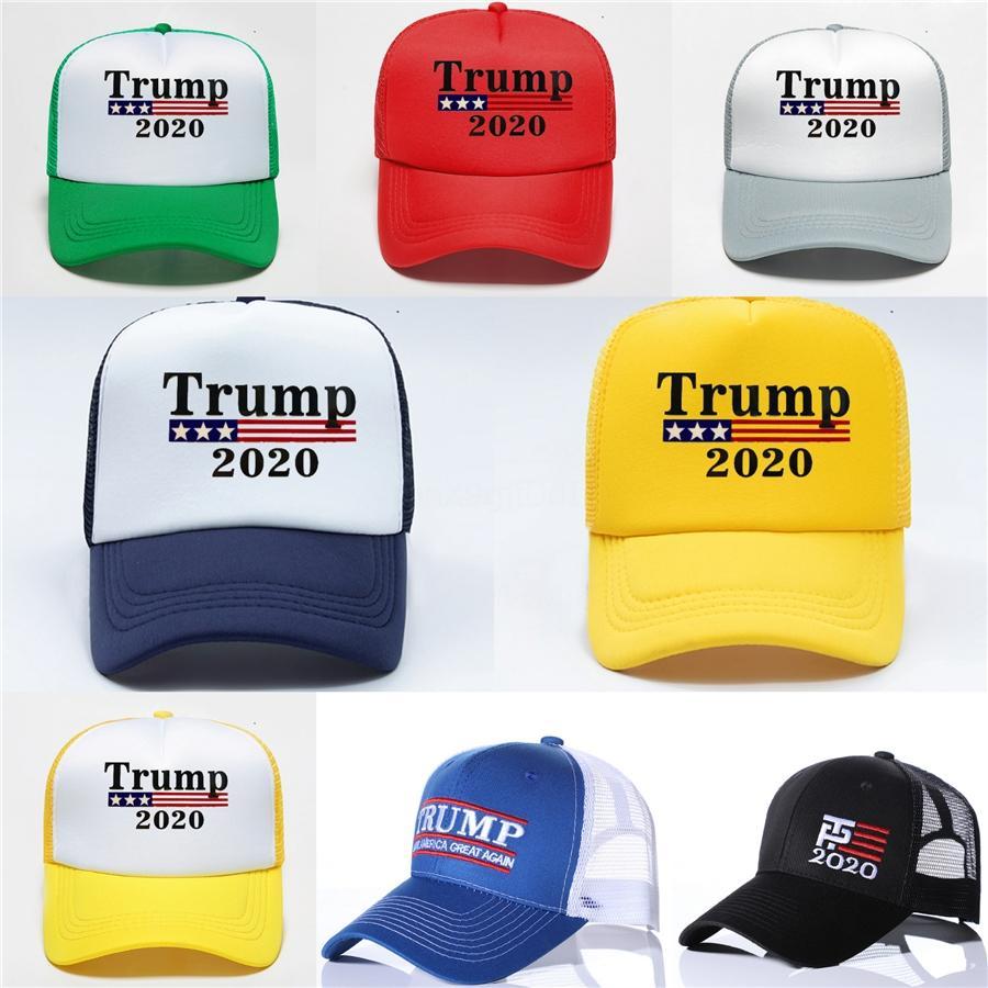 Trump 2020 Lettre de baseball Chapeau de mode d'estampillage chaud Chapeau unisexe Sport causales Mesh Cap Outdoor Beach Voyage Sun Hat 20 1pcs Cny1360 # 443