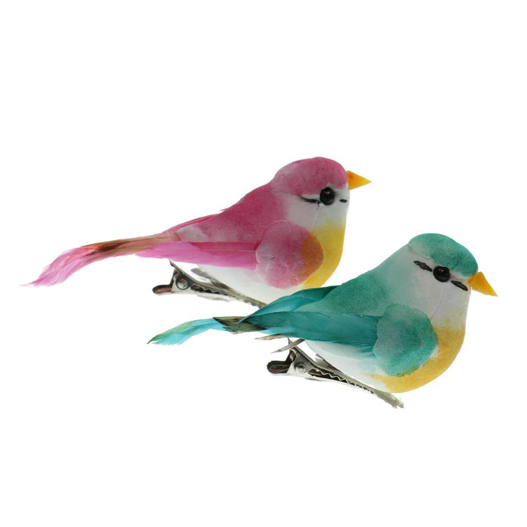 2pcs artificial de aves de plumas de aves de espuma Simulación decoración del hogar