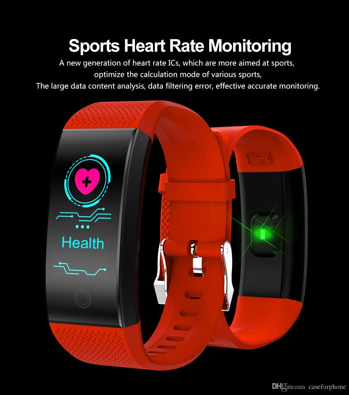 QW18 الذكية سوار رصد معدل ضربات القلب IP68 للماء شاشة ملونة للياقة البدنية المقتفي الفرقة ووتش في الهواء الطلق الاسورة الرياضة