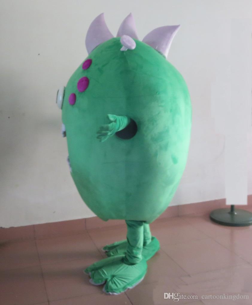 2019 завод продажа горячий Большой рот зеленый микробов бактерии монстр костюм талисмана для взрослых для продажи