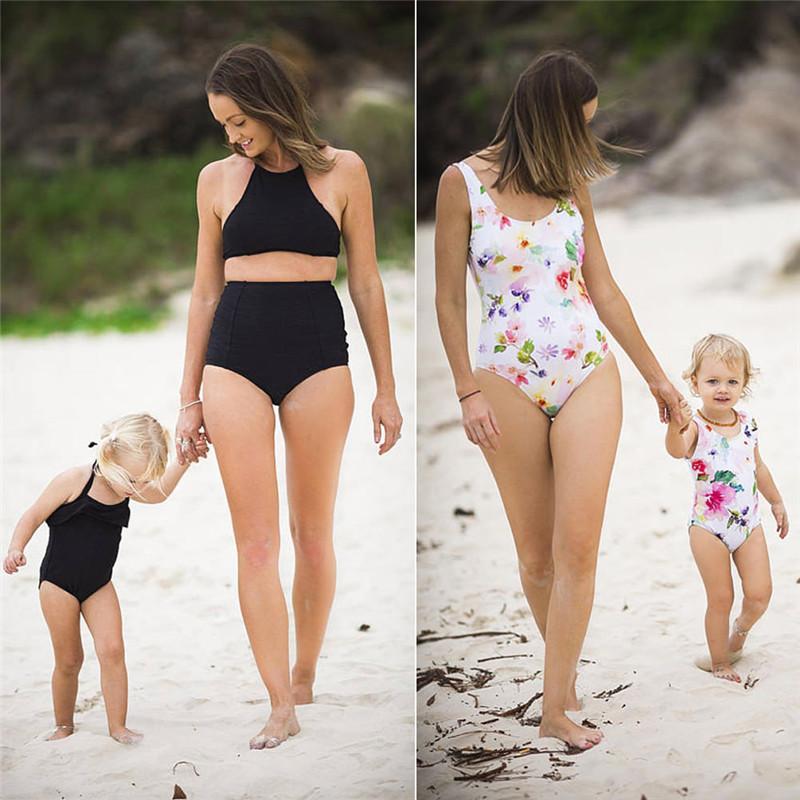 GLANE Family Match мать дочь бикини купальник поп летние купальники женщины девушки дети пляжная одежда горячее купание пляжное платье США