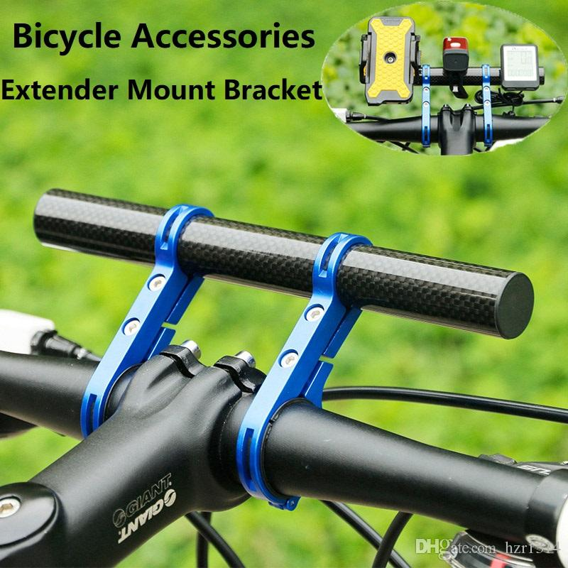 UK Hi-Q Road Bike Double Handlebar Extender Mount Lamp Bracket Flashlight Holder
