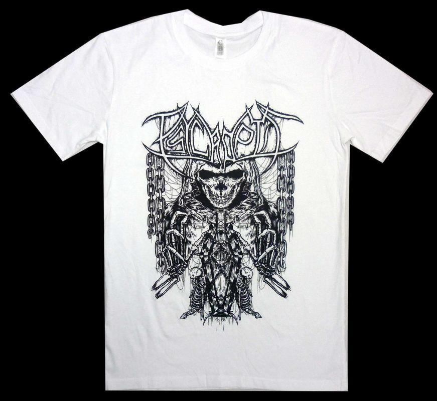 Psycroptic Coffin S-3XL Ufficiale maglietta Skull White Shirt Death Metal T-shirt da uomo di alta qualità T-Top Tee PLUS SIZE