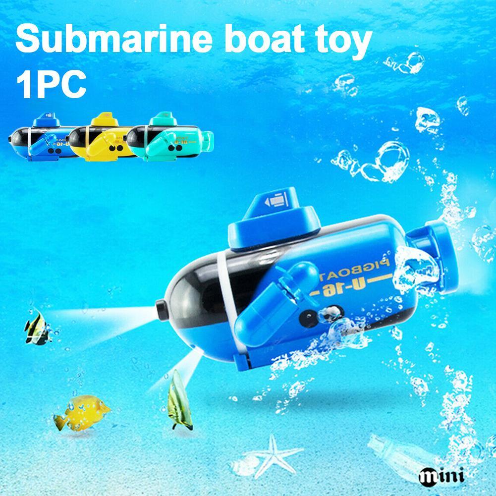 Plástico remoto Inmersiones en aguas de control Mini Kids interesantes submarino Barco de juguete de interior recargable niños de regalo duradero Fish Tank