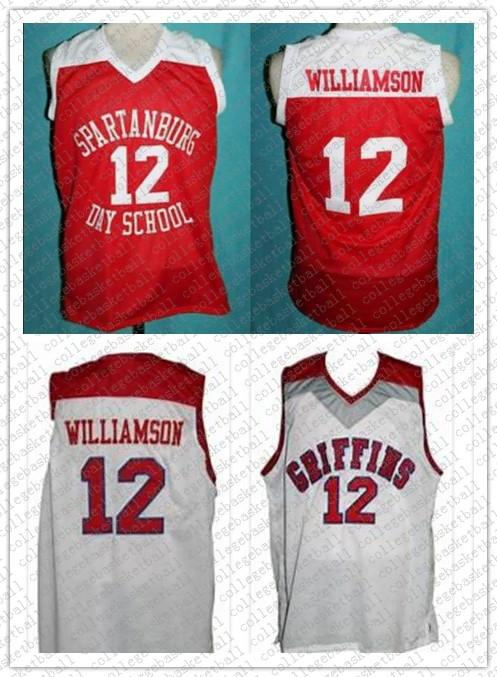 #12 Zion Williamson Spartanburg Griffins Day High School Retro Classic Basketball Jersey Stitched Custom Number and name Jerseys
