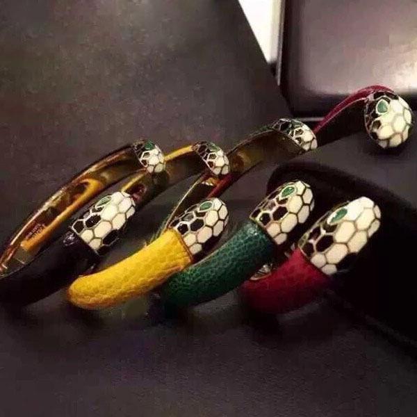 2019 бутик браслеты любителей классической титановой стали капли змеи головы лобстера кожаные браслеты позолоченные четырехцветные мужские украшения