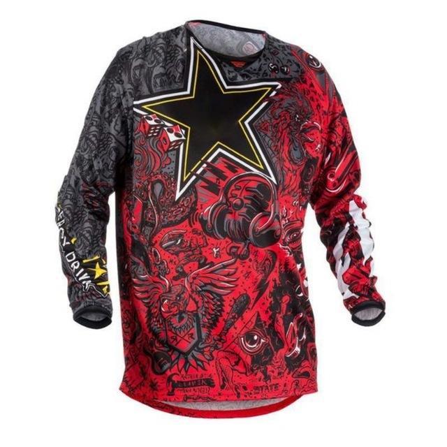 2020 COURSE SUR ROUTE Moto MX VTT Motocross Jersey BMX VTT DH T-shirt à manches longues Vêtements VTT Respirant Séchage rapide Jersey