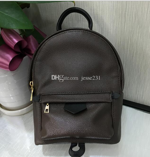 Mini formato Moda Cuoio donne di alta qualità i bambini della scuola del sacchetto borse zaino Springs Lady Bag borsa da viaggio