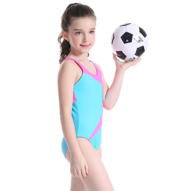 Trajes Trajes de baño de una pieza de baño de las muchachas de los niños de la alta calidad del bikini para la playa Niños Sport Wear Surf ropa del mono